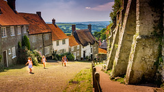 Home of the Hovis Ad (Marlytyz) Tags: shaftesbury hill hovis quaint thatched cottages dorset