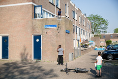 (Peter de Krom) Tags: beverwaard boy water bogharensingel playing outside joke kids netherlands holland town rotterdam splash