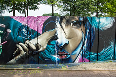 Face hands (Dutch_Chewbacca) Tags: graffiti berenkuil eindhoven rockcity art 040 noordbrabant netherlands dutch holland spray can colors canon dlsr sigma 23 july 2016 summer saturday weekend pretty street legal face hands go mad graffixnl