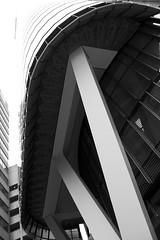 Interesting structure (Val in Sydney) Tags: sydney australia australie nsw cbd building bw blackandwhite noiretblanc nb