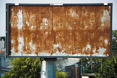 318/365 Incommunicado (darioseventy) Tags: billboard cartellone empty vuoto rust ruggine communication comunicazione nothing niente