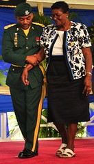 Mrs. Marjorie Jones was awarded the Barbados Service Star (barbadosgovernmentinformationservice) Tags: 455