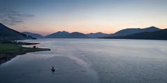 Ardnamurchan mountainscape (Joe Dunckley) Tags: uk sunset sea mountain nature water silhouette landscape coast scotland highlands dusk inlet fjord ballachulish lochaber westhighlands scottishhighlands lochleven sealoch greatglen ardnamurchanpeninsula