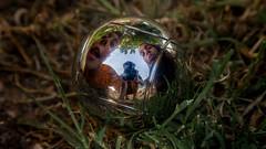 Boules is for elders (The eclectic Oneironaut) Tags: family espaa reflection green grass familia kids canon ball eos spain nios valladolid niece nephew reflejo sobrinos boules pelota 6d 2016 tordesillas petanca castillayleon