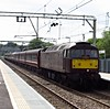 Diesel special arriving at Hockley station, Essex (Steven K. Hearn) Tags: england trains railways essex hockley class47 westcoastrailways dieselelectriclocomotives specialtrains