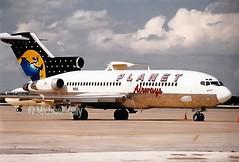 Planet Airways                                   Boeing 727                                N1910 (Flame1958) Tags: planetairways planetair boeing727 boeing b727 727 n1910 mco kmco orlandoairport scan 0899 1999 print
