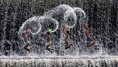 Jump Smash (Pandu Adnyana Photography Tour) Tags: travel bali water indonesia landscape happy waterfall kid jump tour guide baliphotographytour baliphotographyguide balilandscapephotography