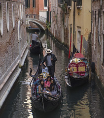 NO Texting and Driving (rayr18) Tags: cell phone text venice gondola gondolier texting canal italy nikon d7000