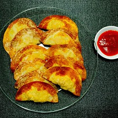 Airfried Crispy Dumplings. (Daphne's Escapades) Tags: healthy delicious crispy snacks homecooked dumplings chinesestyle airfryer