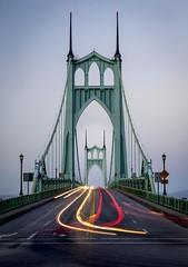 St. John's Bridge, Portland (Matt Straite Photography) Tags: portland bridge columbia gothic towers batman light lightpainting lightroom photoshop canon zoom night detail tower