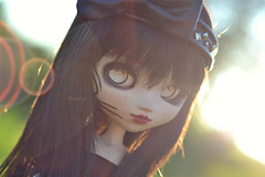 Summer evening (Mientsje) Tags: cute girl lens toy outside doll dolls flare customized pullip collectible custom obitsu