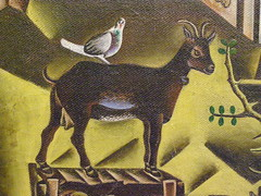 Joan Mir, The Farm, 1921-1922 (DeBeer) Tags: vienna wien 1920s art modern rural painting landscape austria farm 1922 retrospective 1921 mir albertina joanmir 20thcenturyart 20thcenturypainting