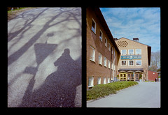 2016-04--05 - Olympus Pen EE - Kodak Ektar 100-12 (sarajoelsson) Tags: city urban color film analog pen spring diptych sweden stockholm snapshot olympus ishootfilm analogue halfframe everydaylife filmgrain vardag 2016 filmphotography penee filmisnotdead halvformat diptyk teamframkallning digitizedwithdslr