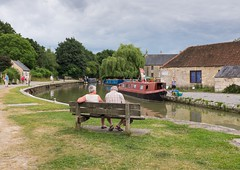 Bradford On Avon (brwestfc) Tags: summer people holiday reflection water bench relax boat canal sitting bradford walk avon on