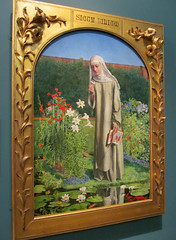 Convent Thoughts (pefkosmad) Tags: conventthoughts art painting victorian ashmoleanmuseum oxford oxfordshire oxon artgallery museum public charlesallstoncollins nun woman book symbolism preraphaelite religion religious garden virginmary missal illuminated