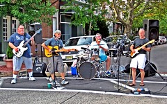The Boys are back in town! (edmccloskey_636) Tags: july2016cruisenight collingswoodnj vintagecars classiccars rockband norelationband