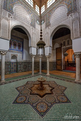 Mausoleum of Moulay Ismail, Meknes, Morocco (Abhi_arch2001) Tags: mausoleum moulay ismail meknes morocco architecture moroccan islamic tomb pattern interior mosaic court courtyard turquoise
