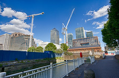 The Cut to the Thames August 2016 (17 of 42) (johnlinford) Tags: canarywharf canon canonefs1022 canoneos7d construction cranes docklands hdr london uk urban landscape