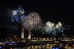 Feu d'artifice 14 juillet 2016 (Johanna Viala) Tags: feudartifice paris toureiffel pontalexandreii seine pont 14juillet damedefer ladamedefer