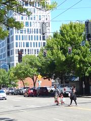 Around Seattle: South Lake Union (Seattle Department of Transportation) Tags: seattle sdot transportation slu southlakeunion amazon pedestrian walkers peds trees family cute