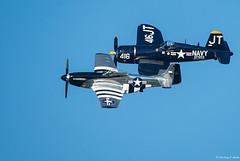 Class Of 45 (Fly Sandman) Tags: p51d quicksilver northamericanaviation mustang f4u corsair warbird eaa airventure oshkosh airshow airplane aircraft formationflight