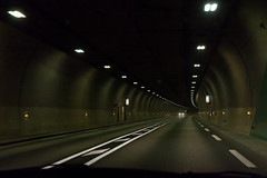 Lioran tunnel (Paul Dykes) Tags: driving lioran civilengineering tunnel cantal auvergne france august 2016