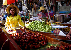 Fruit Boats (mysticislandphoto) Tags: travel thailand market floating people