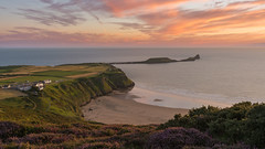 'Worms Head' - Rhossili Bay (Kristofer Williams) Tags: wormshead rhossili beach coast bay heather sunset cloud cloudscape landscape southwales gowerpeninsula gower headland walescoastpath