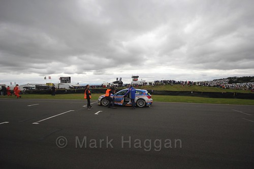 Sam Tordoff on the grid during the BTCC Knockhill Weekend 2016