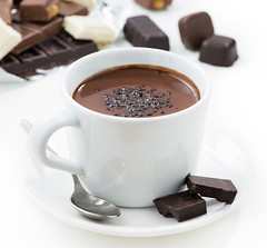 hot chocolate (cook_inspire) Tags: chocolate hot dessert food sweet beverage cocoa cup sugar background cocoabeans gourmet drink breakfast aromatic closeup warm milk liquid brown aroma snack black taste eating natural delicious white unhealthy morning nutrition spice traditional saucer spoon candy sweets sauce ingredients isolated
