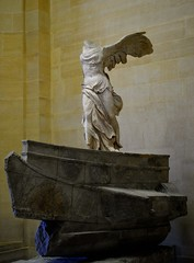 Winged Victory of Samothrace (tokyobogue) Tags: paris louvre france museedulouvre museum art gallery wingedvictoryofsamothrace sculpture greek greece marble goddess nike nikon d7100 nikond7100