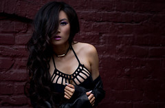 Clarissa Lao (KVanPhotography) Tags: portrait photoshoot model photography photographer gorgeous beautiful dark mysterious vancouver d7200 85mm 18 brick
