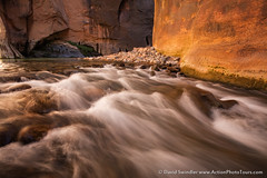 Flow and Glow (David Swindler (ActionPhotoTours.com)) Tags: longexposure utah virginnarrows zion zionnationalpark narrows virginriver water