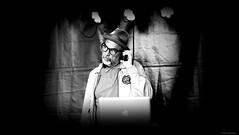 Sound technician at work... (jaap spiering | photographer) Tags: jaapspiering jaapspieringphotographer jaapspieringfotografie blackandwhite monochrome zwartwit bw noiretblanc streetphotography street people mens mensen gx8 jazz haven scheveningen denhaag thehague 070 holland netherlands