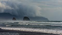 NT2.0381-CB150906_149677 (LDELD) Tags: cannonbeach oregon haystackrock ocean pacific beach rain squall seastacks coast storm stormy
