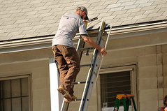18 BEAR on the ROOF! (Violentz) Tags: male guy man roofer roof bear bearded hairy tattooed house home patricklentzphotography