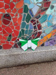 Origami Butterfly in Arklow, Ireland (origami.plus) Tags: origami butterfly arklow ireland flyaway