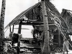 Tokelau Islands, Rebuilding a Fale.