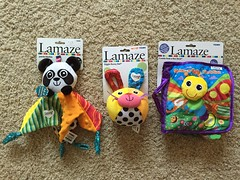 Panda Blankie, Giggle Bunny Ball, & Freddie Peek-A-Boo Book. I'm a fan of Lamaze toys bec. they are so baby friendly&stimulates ur baby's senses and mind.Also easy to just pop into d washer n drier & doesn't create lint so it's safe for ur teething baby! (Travel Galleries) Tags: boy usa baby cute bunny girl smart shop kids ball fun toys book us colorful soft panda babies sale good quality touch feel great smooth adorable story moms international help r cuddly friendly mission freddie imagination 24 educational safe drool months senses blankie interactive teething infants unisex learn tomy lamaze stimulating peakaboo jlsfinds