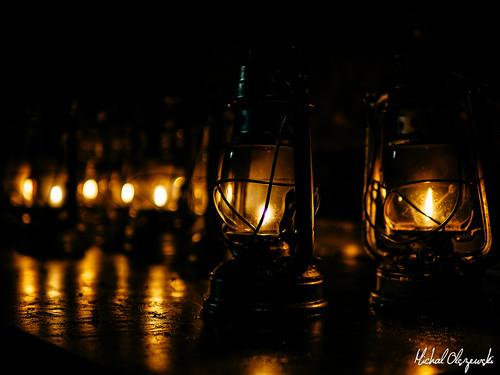 Hurricane Lamps. Chislehurst Caves. Kent