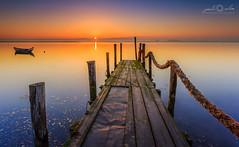 Q. Norte, Ria de Aveiro - Sunrise (paulosilva3) Tags: mist sunrise canon de landscape eos boat warm lee filters ria aveiro waterscape 6d polariser murtosa