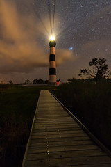 Bodie Lighthouse at Night II (Sandra Herber) Tags: astrophotography bodieislandlighthouse capehatterasnationalseashore night northcarolina outerbanks stars lighthouse