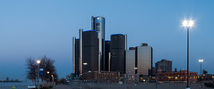 Morning (Tony B Imaging) Tags: morning blue building buildings lights detroit detroitriver motorcity gmbuilding