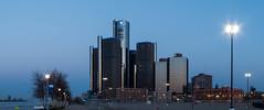 Morning (Tony B Imaging) Tags: morning blue building buildings lights detroit detroitriver motorcity gmbuilding
