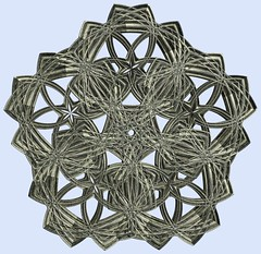 5 Tori / 5つの輪環(りんかん) (TANAKA Juuyoh (田中十洋)) Tags: torus 輪環 りんかん ドーナツ どーなつ mathematica 3d cg parametricplot3d texture code program algorithm abstruct graphic design pattern structure mapping figure プログラム コード アルゴリズム テクスチャ マッピング 模様 もよう 抽象 ちゅうしょう アブストラクト グラフィック グラフィクス パターン デザイン 意匠 いしょう 構造 こうぞう 図形 ずけい symmetry 対称性 たいしょうせい シンメトリー 対称 たいしょう