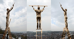 150416 pNhmn 150416  Ththi (thethi (don't like beta groups)) Tags: panorama art monument statue belgium belgique ciel nuage triptyque ville homme namur mosaque wallonie phtoshopped inthesky mesurer jfabre setobjetsnew setnamurcity ruby10 faves38
