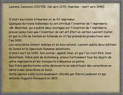 2013.04.18.043 HAARLEM - statue de Laurens Janszoon Coster (alainmichot93 (Bonjour à tous et Bonne année)) Tags: haarlem statue bronze paysbas grotemarkt hollande grandeplace neederland zuidkennemerland laurensjanszooncoster hollandeseptentrionale