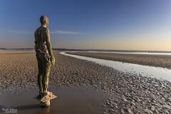 Crosby Beach 18/04/2015 (wiganworryer) Tags: sunset sea 2 sky sculpture art beach liverpool canon sand iron place mark keith cast ii 7d another antony gibson mk mersey gormley crosby merseyside sefton 2015 wiganworryer