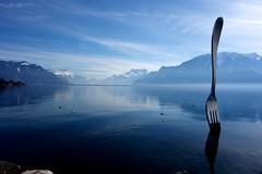 (drams21) Tags: cielbleu bleu sky bluesky art alimentarium fourchette fork vevey tagforlikes swissriviera lacléman lake lakeview lac montagnes teamsony rx 1sensor photography sonyphotography rx100 sony