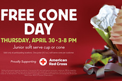 Free Cone Day at Carvel on April 30th! (orsvp) Tags: icecream carvel freeconeday americanredcross